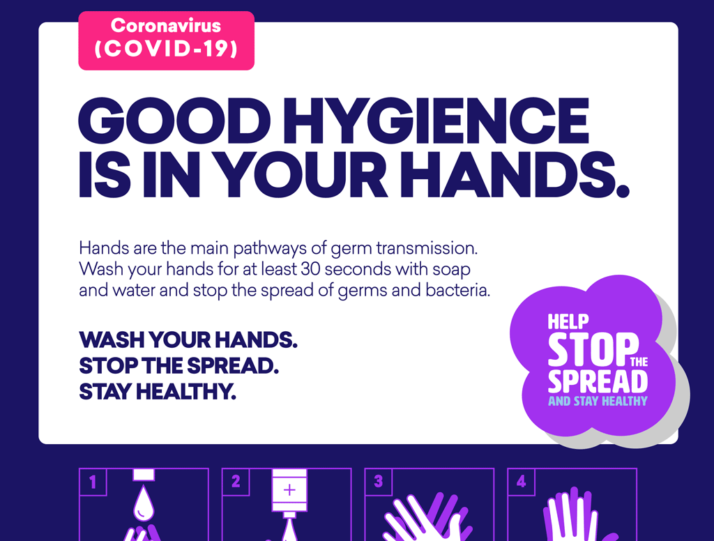 COVID-19 Free Handwashing Poster